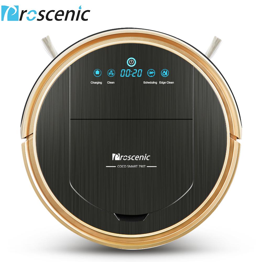 Proscenic 790T робот-пылесос Wifi подключенный домашний автоматический подметальный пылесос для уборки пыли приложение умный планируемый пылесос