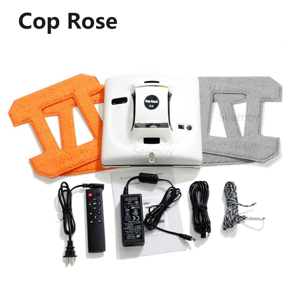 Робот Cop Rose X6 для мытья окон, пылесос, робот для мытья окон, стеклоочиститель, робот для мытья окон
