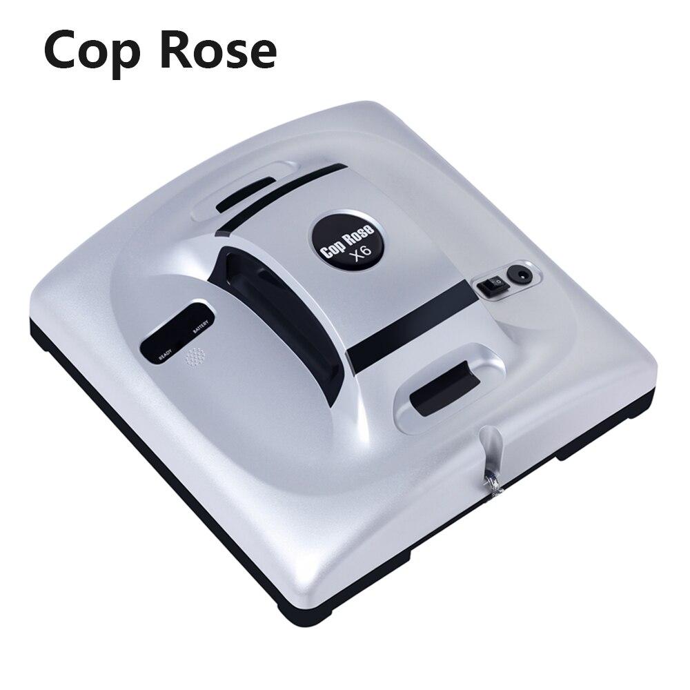 Робот-мойщик окон COP ROSE X6 с высоким всасыванием для очистки окон дома, анти-падение, пульт дистанционного управления, пылесос, робот-мойщик о...