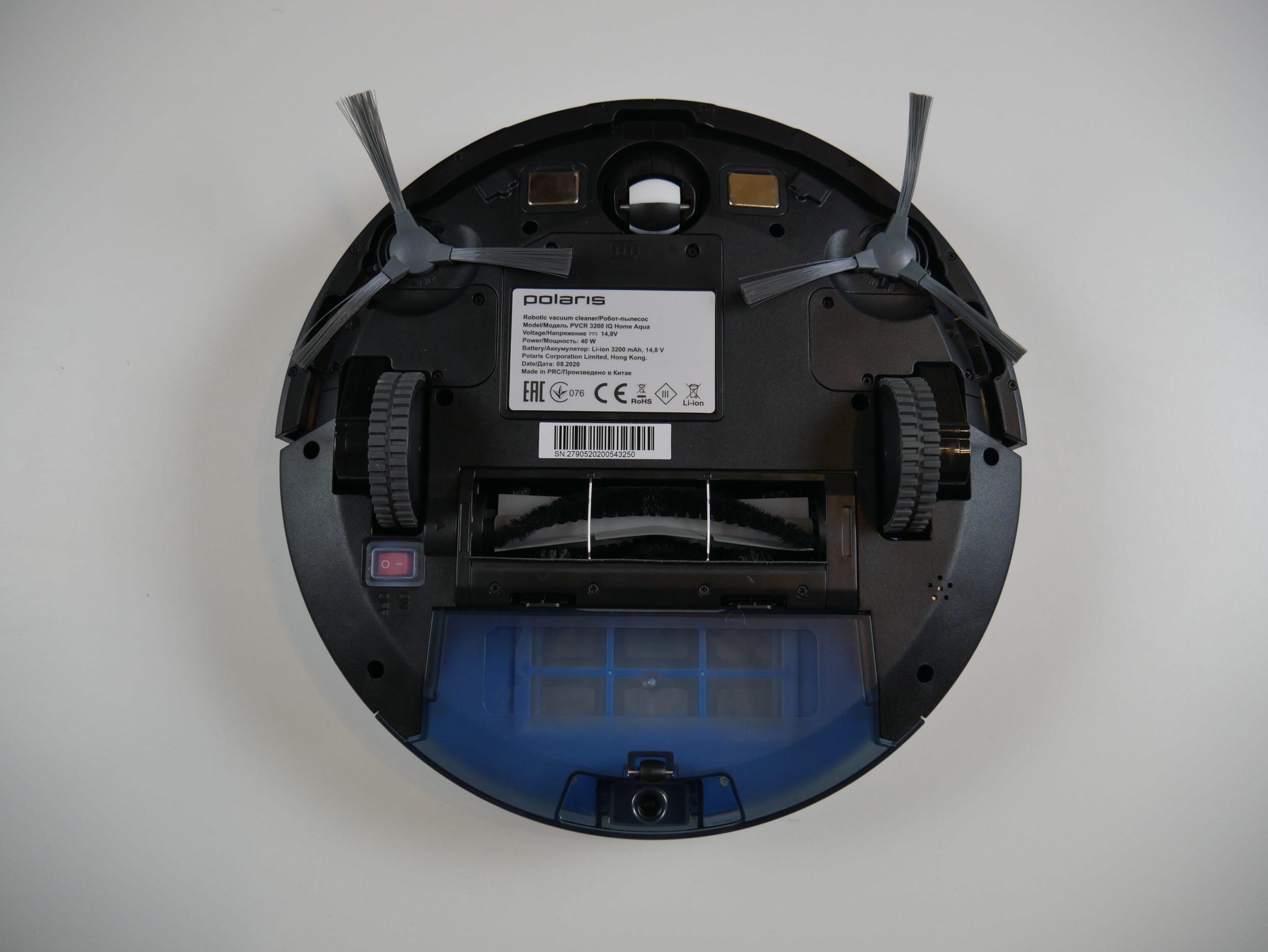 Polaris PVCR 3200 IQ Home Aqua вид снизу
